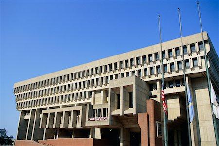 flag at half mast - City Hall, Boston, Massachusetts, USA Stock Photo - Rights-Managed, Code: 700-00368126