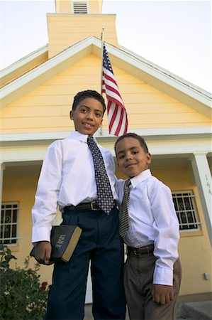 Portrait of Two Boys Stock Photo - Rights-Managed, Code: 700-00371436
