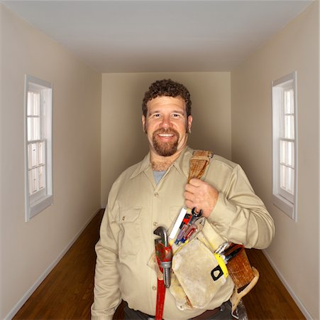 Portrait of Handyman Stock Photo - Rights-Managed, Code: 700-00404017