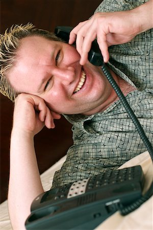 Man Talking on Phone Stock Photo - Rights-Managed, Code: 700-00439576