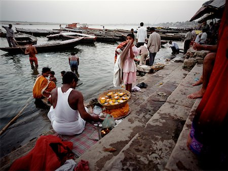 People at the Banks of the Ganges River, Varanasi, India Stock Photo - Rights-Managed, Code: 700-00430664