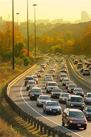 Traffic in Autumn, Toronto, Ontario, Canada Stock Photo - Rights-Managed, Code: 700-00430719