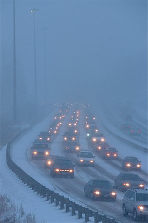 Traffic in Winter, Toronto, Ontario, Canada Stock Photo - Rights-Managed, Code: 700-00430722