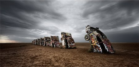 david zimmerman - Cadillac Ranch, Texas, USA Stock Photo - Rights-Managed, Code: 700-00453236