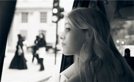 Girl Looking Out at Street, Mayfair, London, England Stock Photo - Rights-Managed, Code: 700-00476622