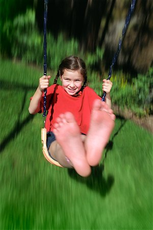 preteen girl feet - Girl on Swing Stock Photo - Rights-Managed, Code: 700-00476965