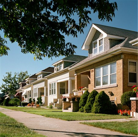 Row of Houses Stock Photo - Rights-Managed, Code: 700-00477578