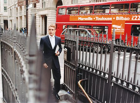 Businessman Descending Stairs to Subway, London, England Stock Photo - Rights-Managed, Code: 700-00477745