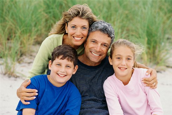 Portrait of Family Stock Photo - Premium Rights-Managed, Artist: Kevin Dodge, Image code: 700-00477819