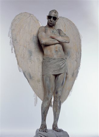 Man Posing as Angel Stock Photo - Rights-Managed, Code: 700-00478484
