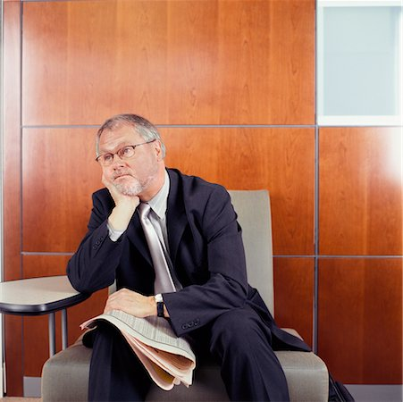 Businessman in Waiting Area Stock Photo - Rights-Managed, Code: 700-00514722