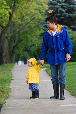 Father and Son Walking Together Stock Photo - Rights-Managed, Code: 700-00515215