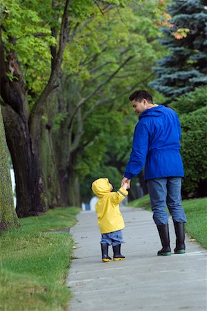 Father and Son Walking Together Stock Photo - Rights-Managed, Code: 700-00515216