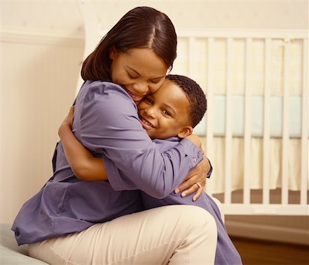 Mother and Son Hugging Stock Photo - Rights-Managed, Code: 700-00517715