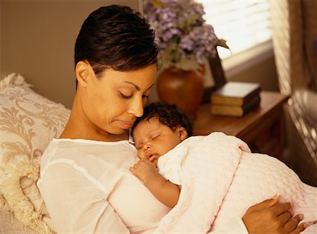 Mother with Sleeping Baby Stock Photo - Rights-Managed, Code: 700-00517739