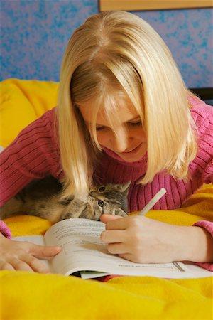 Girl Doing Homework Stock Photo - Rights-Managed, Code: 700-00519391