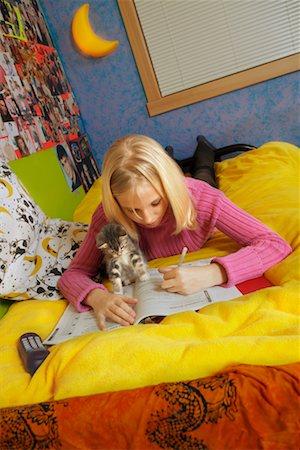 Girl Doing Homework Stock Photo - Rights-Managed, Code: 700-00519392