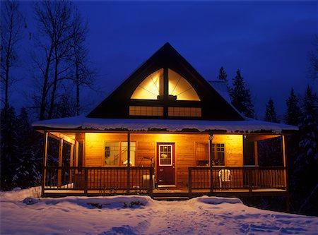 Winter Cabin, Near Kimberley, British Columbia, Canada Stock Photo - Rights-Managed, Code: 700-00519458