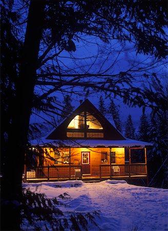 Winter Cabin, Near Kimberley, British Columbia, Canada Stock Photo - Rights-Managed, Code: 700-00519459