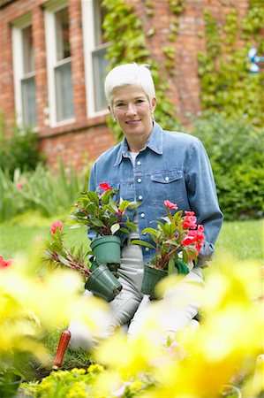 peter griffith - Woman Gardening Stock Photo - Rights-Managed, Code: 700-00529329