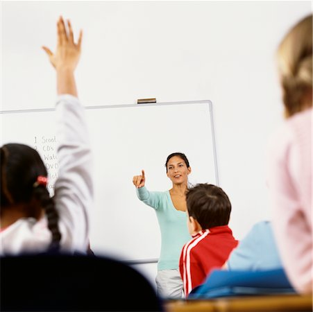 simsearch:600-01184690,k - Teacher Calling on Student in Classroom Stock Photo - Rights-Managed, Code: 700-00523355
