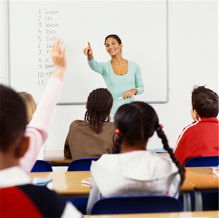 simsearch:600-01184690,k - Teacher Calling on Student in Classroom Stock Photo - Rights-Managed, Code: 700-00523356