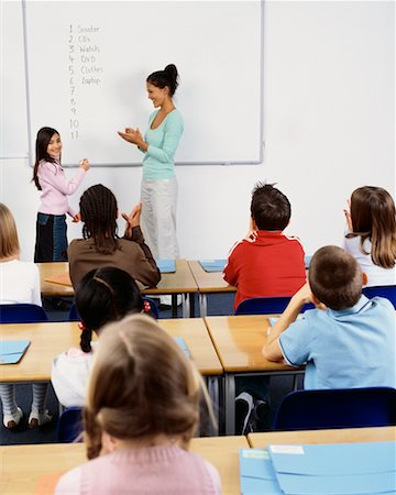 simsearch:600-01184690,k - Teacher and Students in Classroom Stock Photo - Rights-Managed, Code: 700-00523359