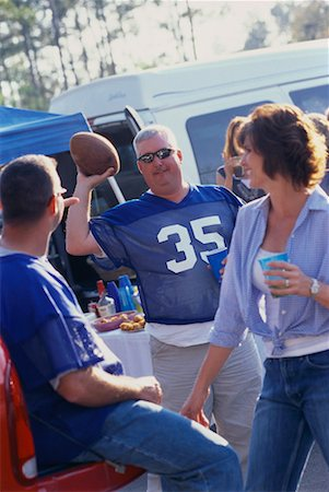 fat man balls - People at a Tailgate Party Stock Photo - Rights-Managed, Code: 700-00530726
