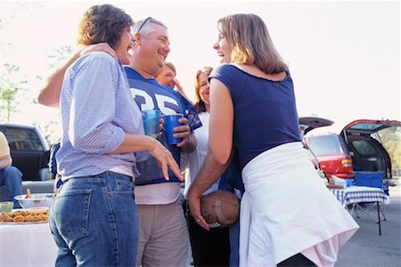 fat man balls - People at Tailgate Party Stock Photo - Rights-Managed, Code: 700-00530727
