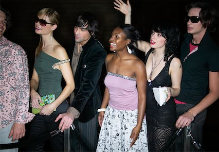 queue club - People Waiting in Line Outside Nightclub Stock Photo - Rights-Managed, Code: 700-00544226