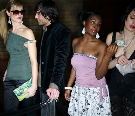 queue club - People Waiting in Line Outside Nightclub Stock Photo - Rights-Managed, Code: 700-00544227