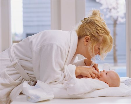 Mother Tickling Baby Stock Photo - Rights-Managed, Code: 700-00546702