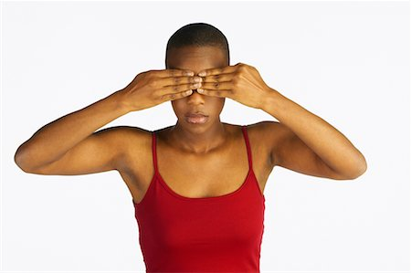 peter griffith - Woman Covering Eyes Stock Photo - Rights-Managed, Code: 700-00549610
