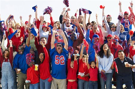 Crowd Cheering at Sporting Event Stock Photo - Rights-Managed, Code: 700-00549815