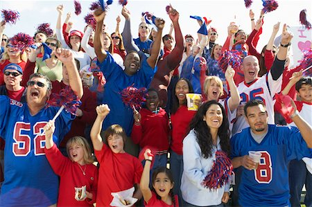 Crowd Cheering at Sporting Event Stock Photo - Rights-Managed, Code: 700-00549838