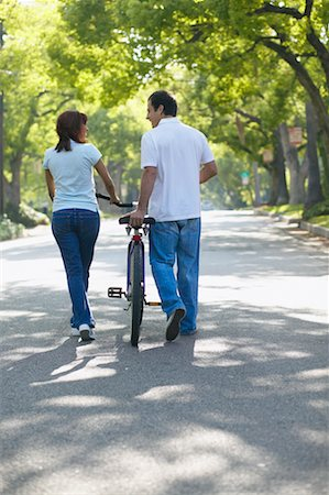Couple Walking with Bicycle Stock Photo - Rights-Managed, Code: 700-00549934