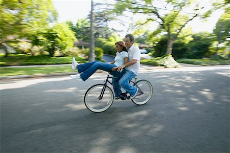Couple Riding Bicycle Stock Photo - Rights-Managed, Code: 700-00549949