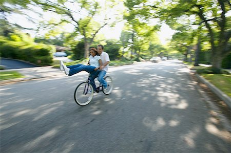 Couple Riding Bicycle Stock Photo - Rights-Managed, Code: 700-00549950