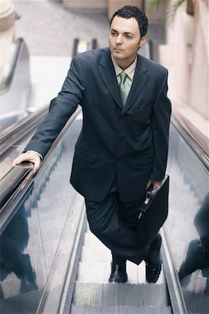 peter griffith - Businessman on Escalator Stock Photo - Rights-Managed, Code: 700-00543512