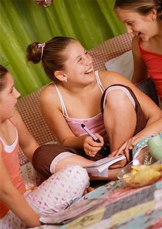 Girls at Sleepover Stock Photo - Rights-Managed, Code: 700-00543824