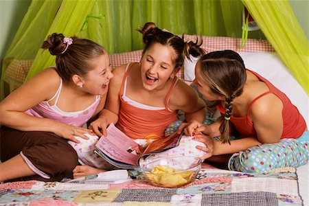 Girls at Sleepover Stock Photo - Rights-Managed, Code: 700-00543822