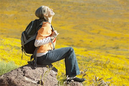 simsearch:600-00846421,k - Woman Resting on Hike Stock Photo - Rights-Managed, Code: 700-00554626