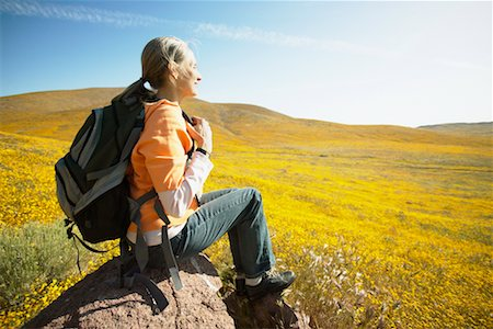 simsearch:600-00846421,k - Woman Resting on Hike Stock Photo - Rights-Managed, Code: 700-00554627