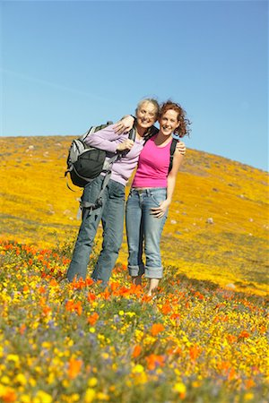 simsearch:600-00846421,k - Portrait of Mother and Daughter In Field, Hiking Stock Photo - Rights-Managed, Code: 700-00554648