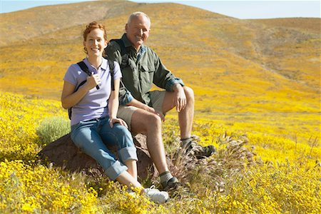 simsearch:600-00846421,k - Portrait of Father and Daughter Hiking Stock Photo - Rights-Managed, Code: 700-00554640