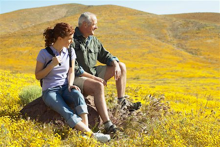simsearch:600-00846421,k - Father and Daughter Hiking Stock Photo - Rights-Managed, Code: 700-00554641