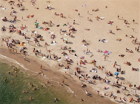 david zimmerman - Crowded Beach, Coney Island Beach, Brooklyn, New York Stock Photo - Rights-Managed, Code: 700-00554741