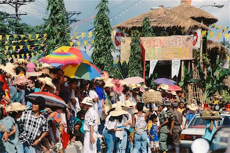 pictures philippine festivals philippines - People Waiting on Side of Road, Cebu, Philippines Stock Photo - Rights-Managed, Code: 700-00555259