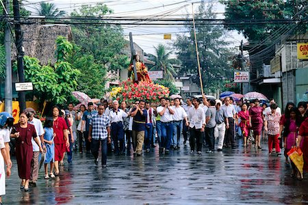 pictures philippine festivals philippines - Crowd of People on Street, Cagayan de Oro, Mindanao, Philippines Stock Photo - Rights-Managed, Code: 700-00555327