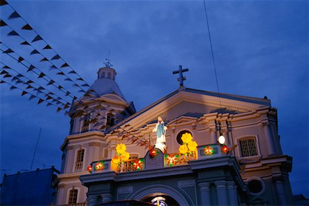 pictures philippine festivals philippines - Exterior of Church, San Fernando, Pampanga, Philippines Stock Photo - Rights-Managed, Code: 700-00555370